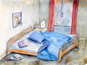 La chambre : lieu d'insomnies