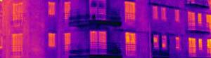 Mesure des déperditions de chaleur d'une habitation