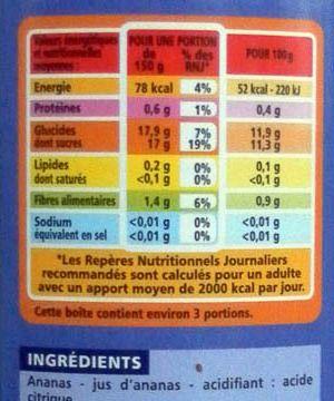 Etiquetage d'un produit alimentaire