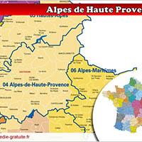 Carte des Alpes de Haute-Provence
