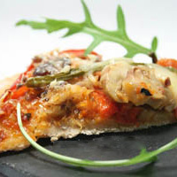 Recette de la pizza aux poivrons et sardines