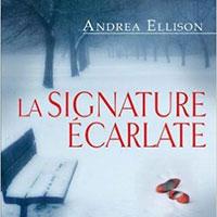 Couverture du roman <La signature écarlate>