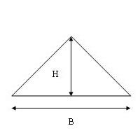 surface de triangle