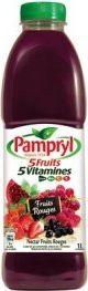 Le jus de fruit rouge de chez Pampryl