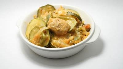 Photo de l'émincé de porc au curry et lait de coco