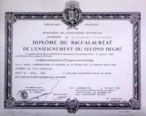 Diplôme du baccalauréat