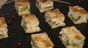 Recette de tarte au saumon fumé et courgettes