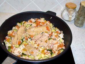 le plat en cours de cuisson