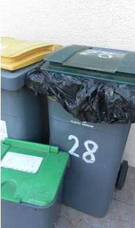 Les différents bacs de tris sélectifs pour les déchets